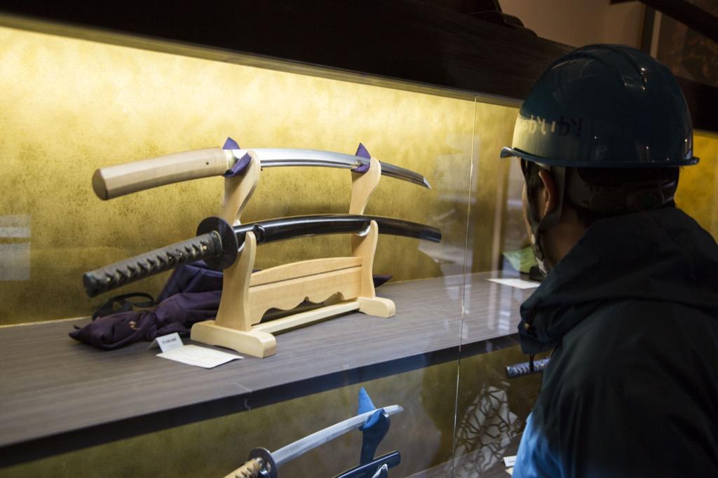 日本刀の展示