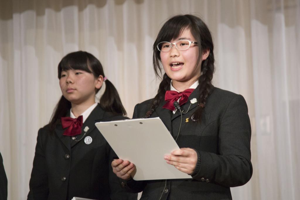 大成女子校プレゼンテーション2(リーダー挨拶)