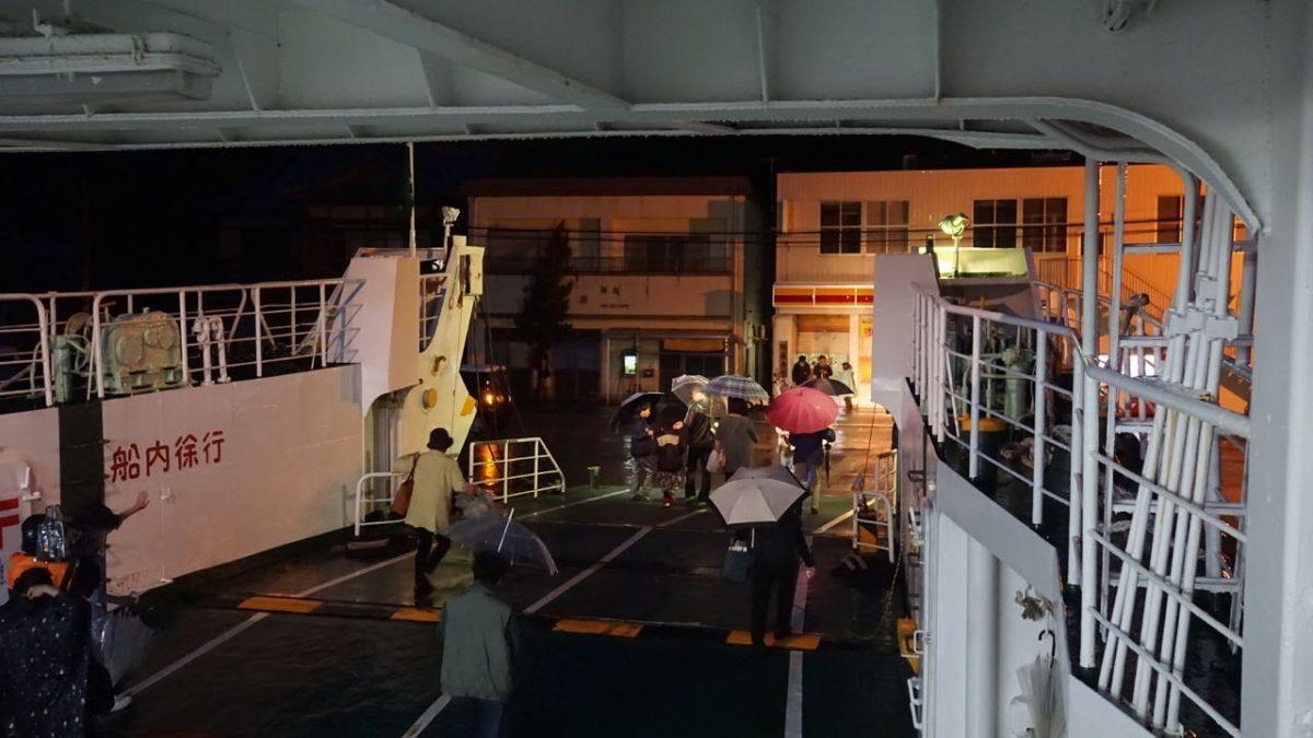 夜の蛤漁港