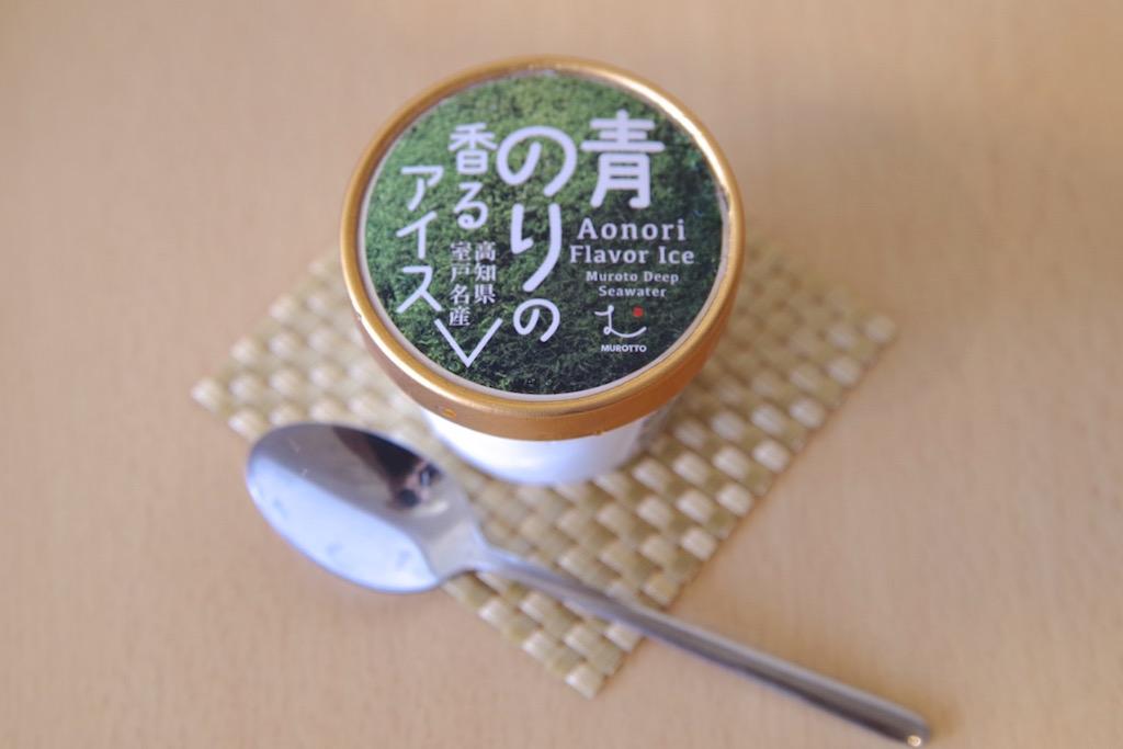 青海苔の香るアイス