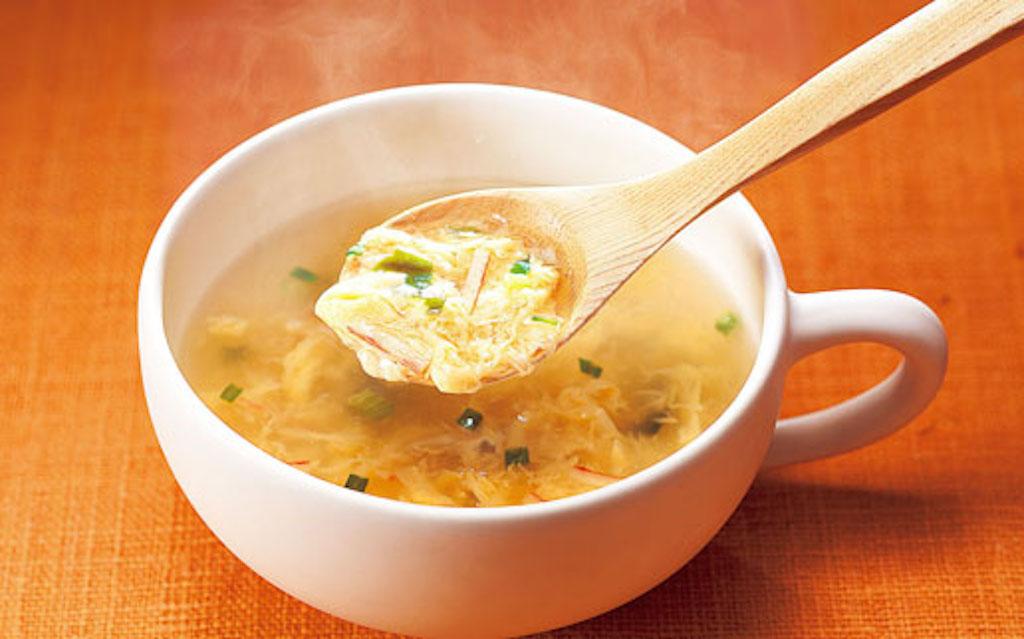たまごスープのかき玉