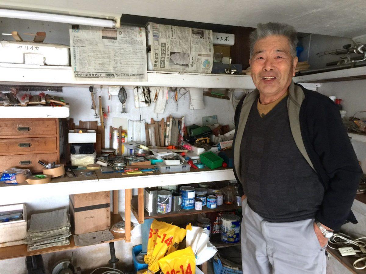 ご自慢の釣り道具部屋