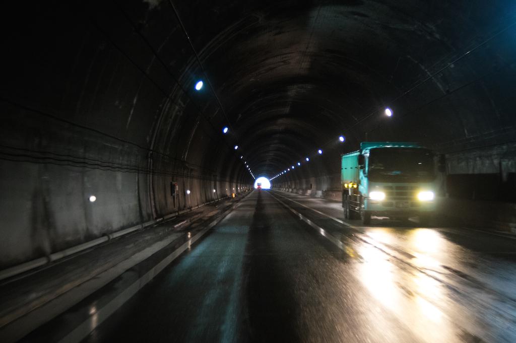 トンネル対面