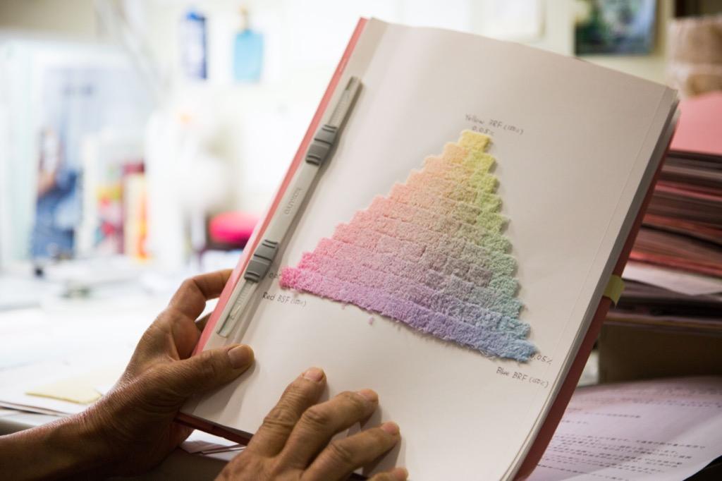 染色の見本帳