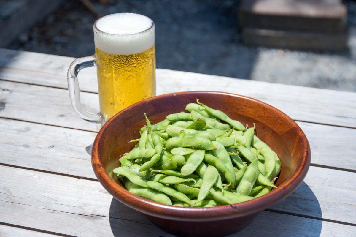 夏はビールと枝豆