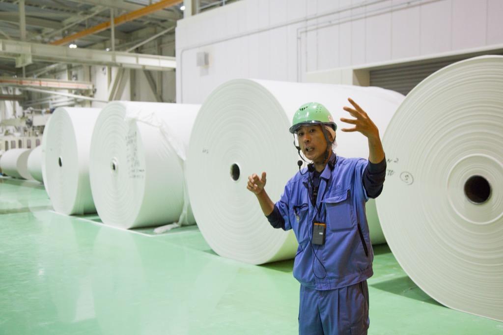 巨大な原紙