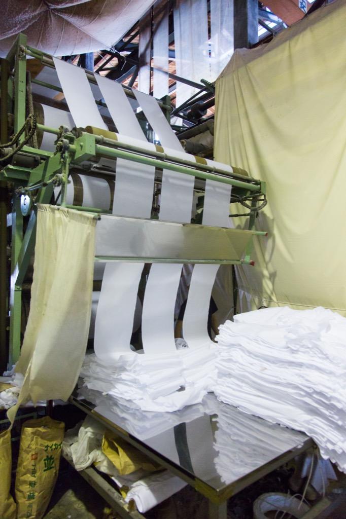 晒工場の乾燥工程