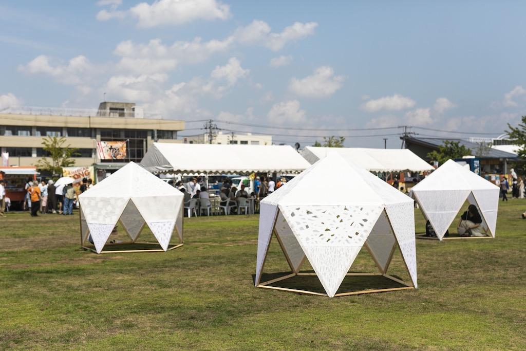 和紙でできたドーム